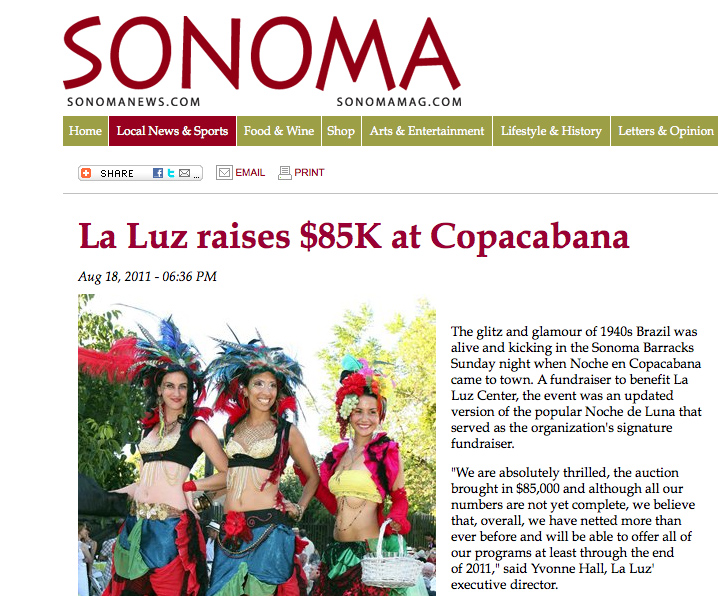 Stilt Walkers in Sonoma News Clip