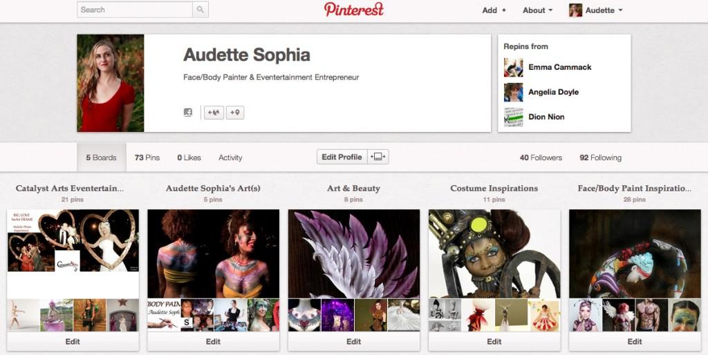 Audette Sophia's Pinterest