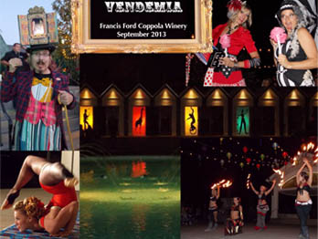 Catalyst Arts Performers at Vendemia at Francis Ford Coppola Winery