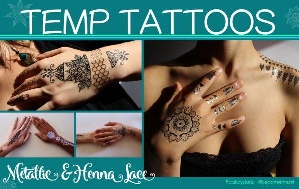 flash tattoo & henna tattoos by Catalyst Arts SF California