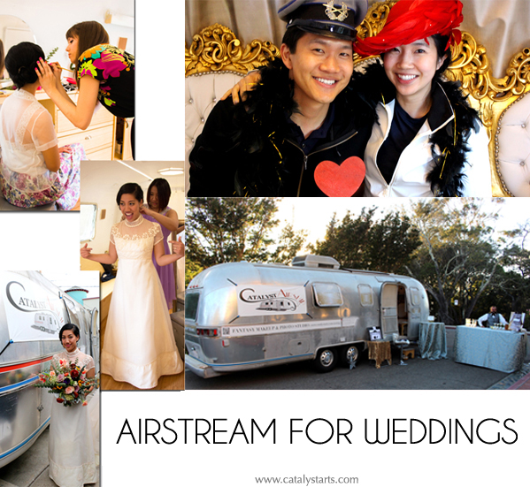 airstream photo studio + airstream rental for California weddings- www.catalystarts.com