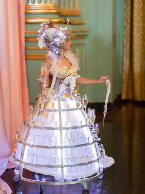 San francisco elegant Antoinette Champagne Skirt by www.catalystarts.com