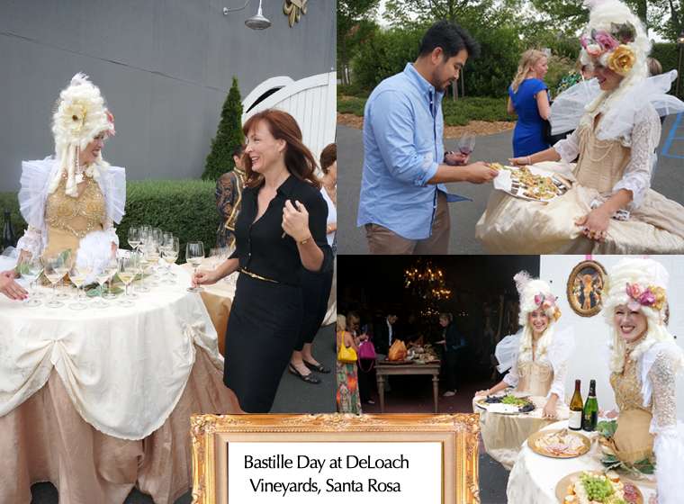 Bastille day at DeLoach Vineyards- entertainers by Catalyst Arts