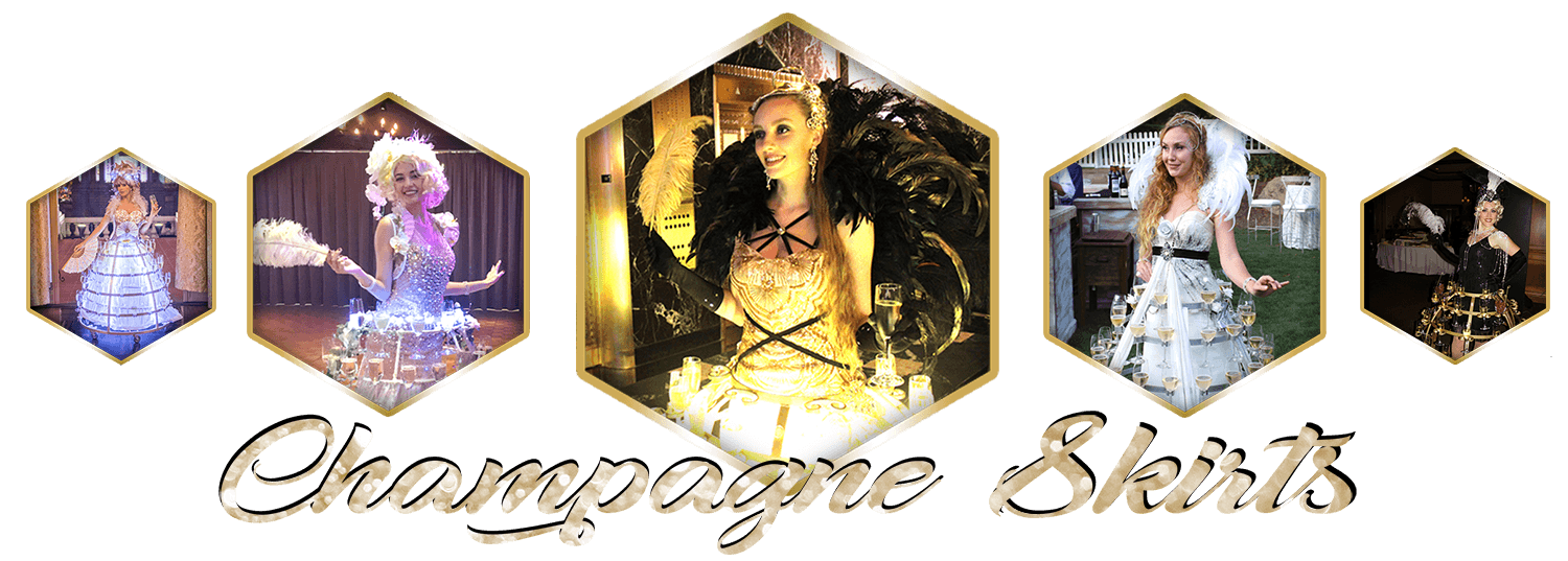Champagne Skirts, Wine Skirts, Champagne Dresses by Catalyst Arts Entertainment in California- www.catalystarts.com