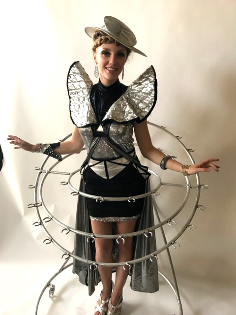 unique champagne skirt futuristic by Catalyst Arts