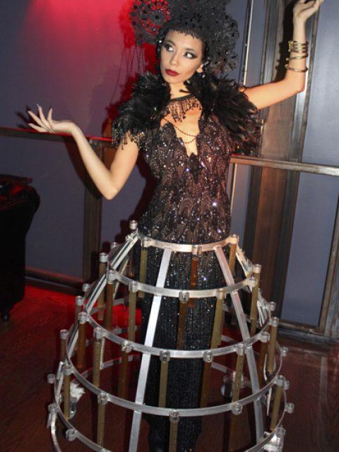Dark Lace Beaker Shot Skirt by Catalyst Arts San Francisco