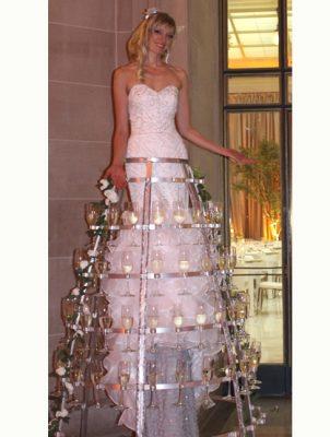 Catalyst Arts Stilt Champagne Skirt- deluxe drink serving dress - www.catalystarts.com