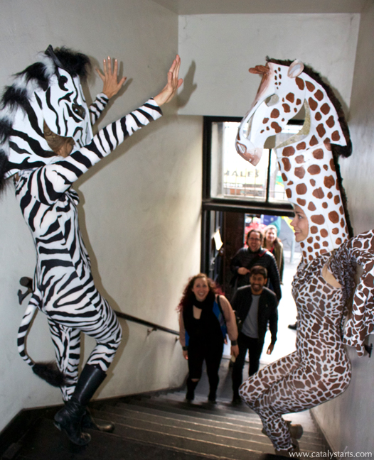 party animal giraffe and zebras by www.catalystarts.com