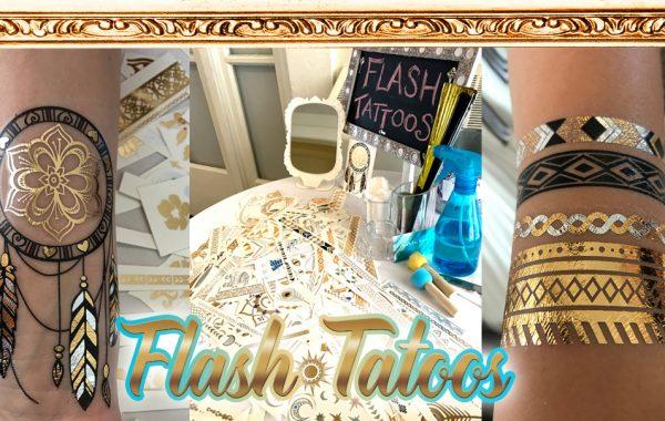 Flash Tattoos & temp tattoo artist for events by www.catalystarts.com