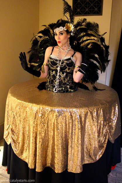 Gatsby Showgirl 20's Living Table by Catalyst Arts Entertainment California