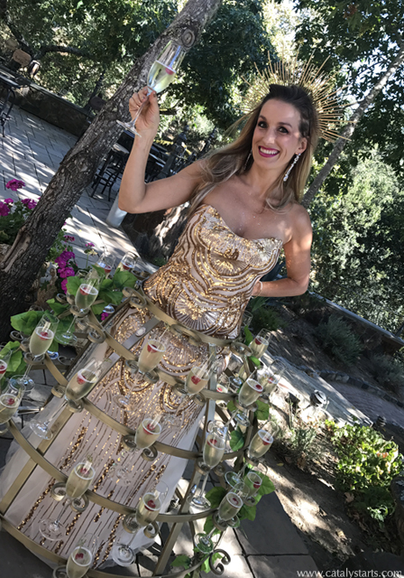 Gold wedding Champagne Skirt by Catalyst Arts Enterainment