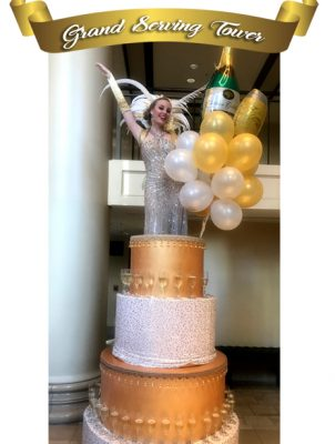Catalyst Arts Grand Drink Serving Tower & giant Cake