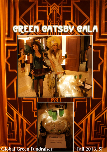 Green Gatsby Gala with some creative animation & entertainment by www.catalystarts.com