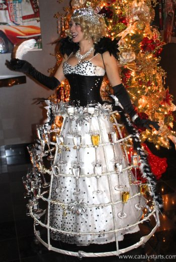 Holidazzle Champagne Skirt by Catalyst Arts