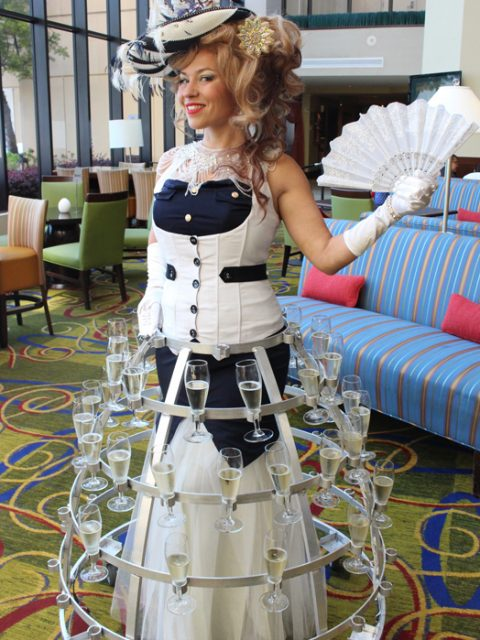 Nautical belle aquatic costumed champagne skirt - www.catalystarts.com