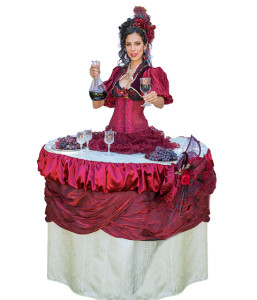 lady table living tables & champagne skirts in Los Angeles