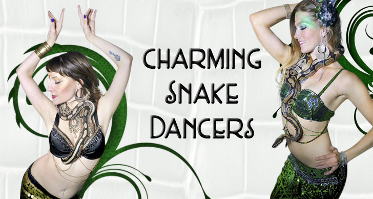 Snake dancers & snake charmers by Catalyst Arts entertainment company in California