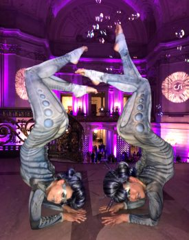 Out of this World Contortionist Duo from Catalyst Arts for CSI Corporate Event at SF City Hall