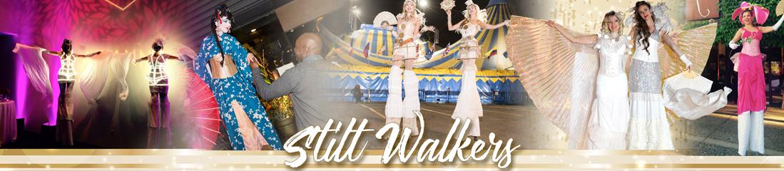 stilt walkers by catalyst arts