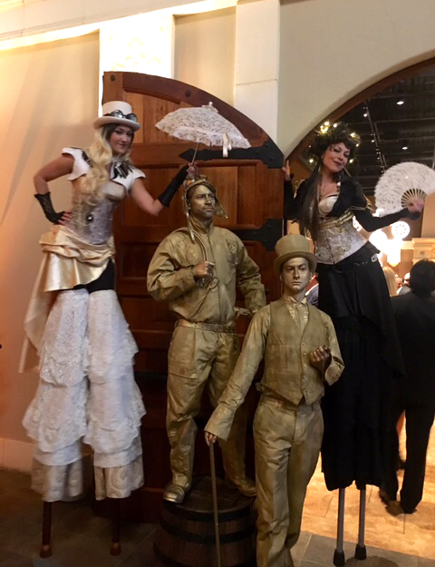 Steampunk Stilt Walkers & Living Statues by www.catalystarts.com
