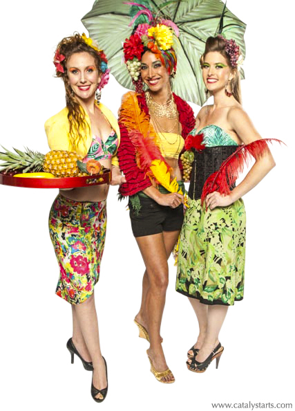 tropical hostesses & character models by Catalyst Arts Entertainment in SF California