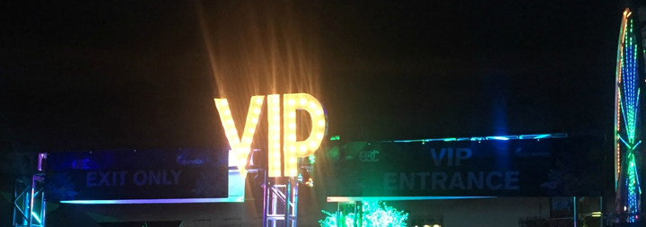 VIP entrance lights & VIP entertainment production
