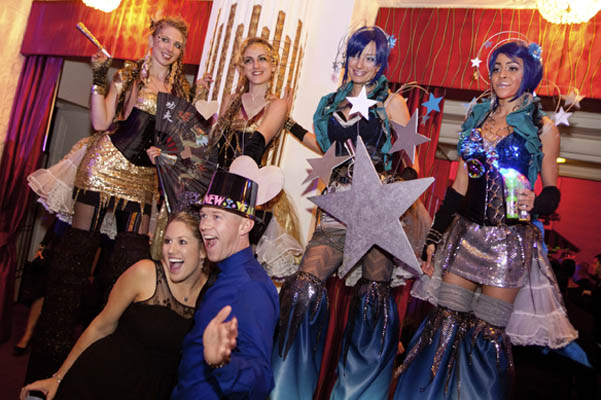 NYE Party Stilt Walkers & party entertainment by www.catalystarts.com