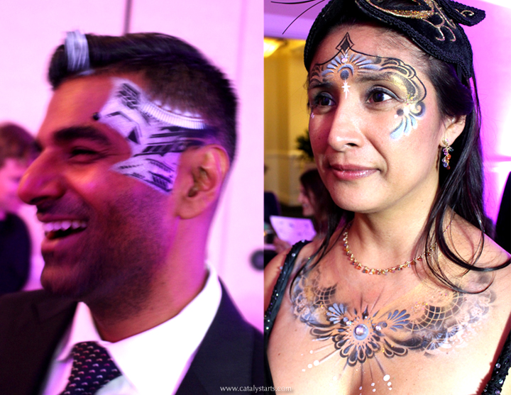 Catalyst Arts Airbrush Artists Masquerade Corporate event
