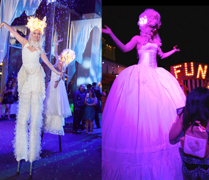 Catalyst Arts Victorian and Winter Wonderland Theme Stilt Walkers - San Francisco