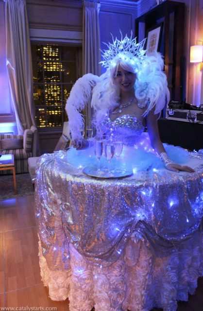 Catalyst Arts Entertainment Fancy Ice Queen Table