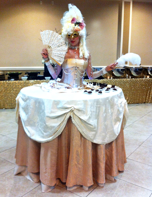 Masquerade Living Table by Catalyst Arts Entertainment California