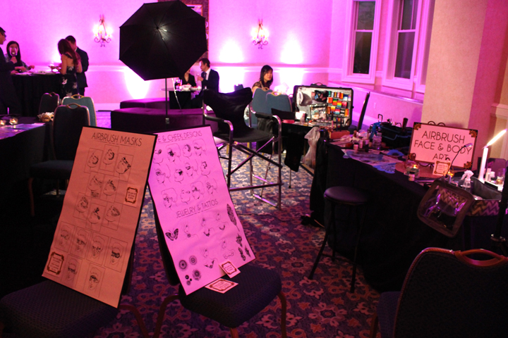 Airbrush Artists & setup for corporate event by Catalyst Arts