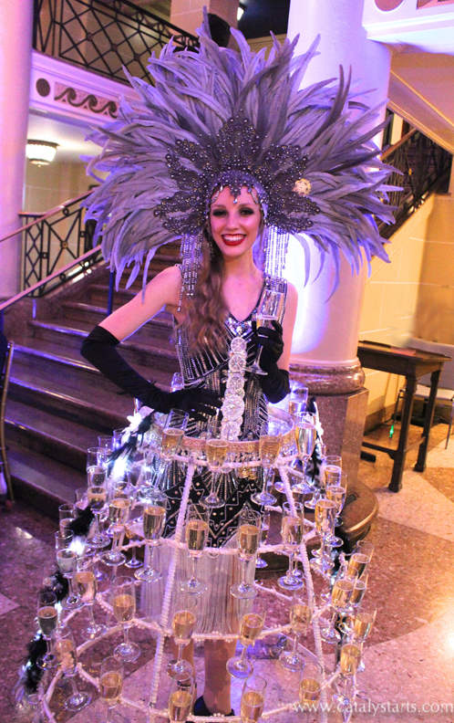 Flapper Gatsby Showgirl Champagne Skirt by Catalyst Arts Entertainment in California