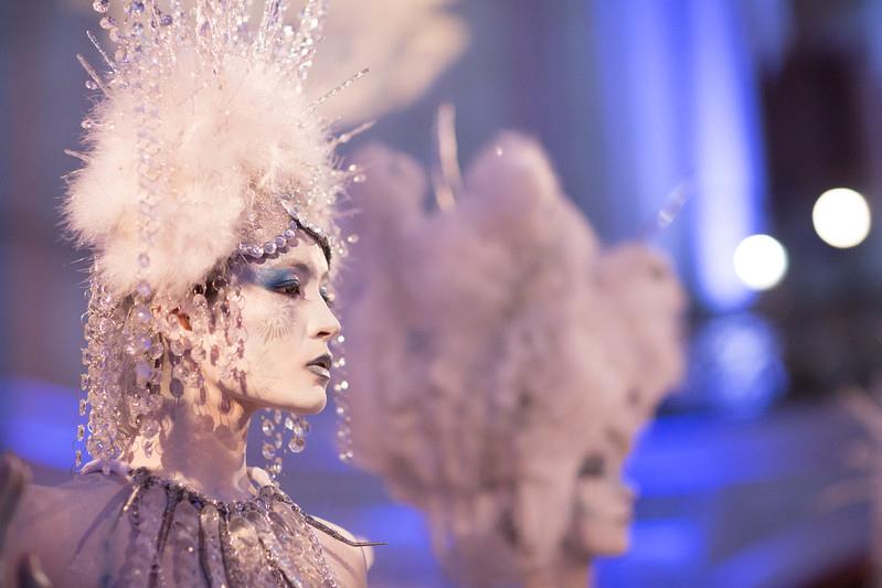 ice queen closeup- fantasy makeup & body paint- headdresses Lori Lee
