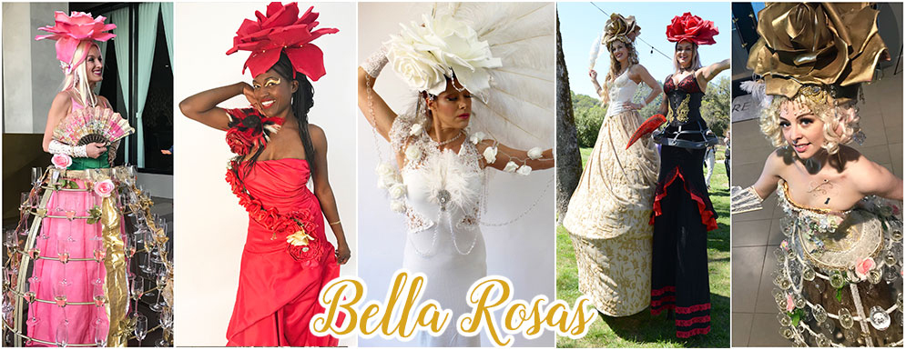catalyst arts unique bella rosa rose themed hostesses & performers