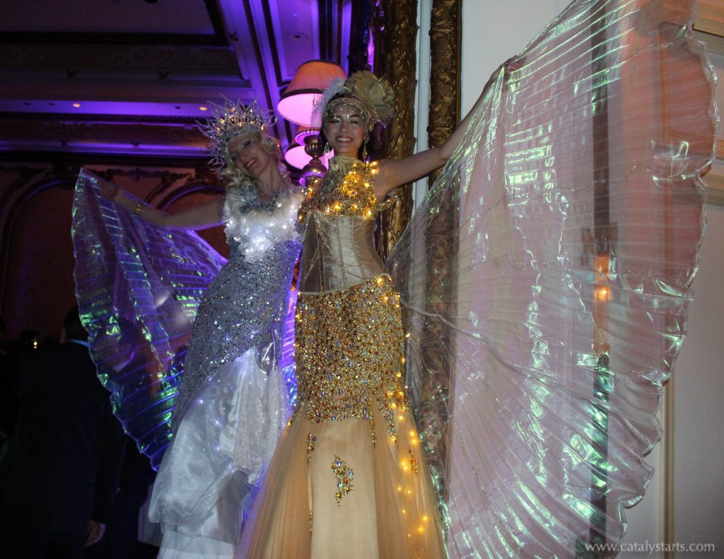 Holidazzle Stilt Walkers by Catalyst Arts Entertainment in California - www.catalystarts.com