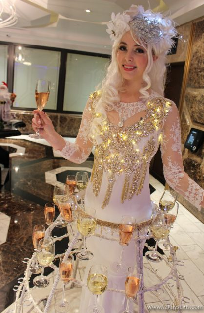 Holiday Champagne Skirt by Catalyst Arts Entertainment in California - www.catalystarts.com