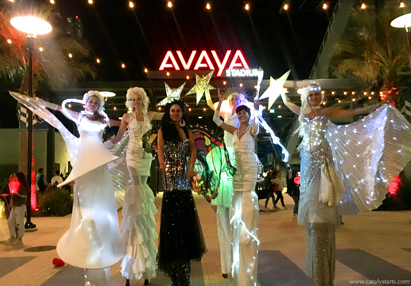 Illuminated Stilt Walkers from Catalyst Arts at Light the Night at Avaya Stadium 2018