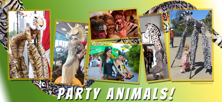 Party Animals by Catalyst Arts - wildlife of the party
