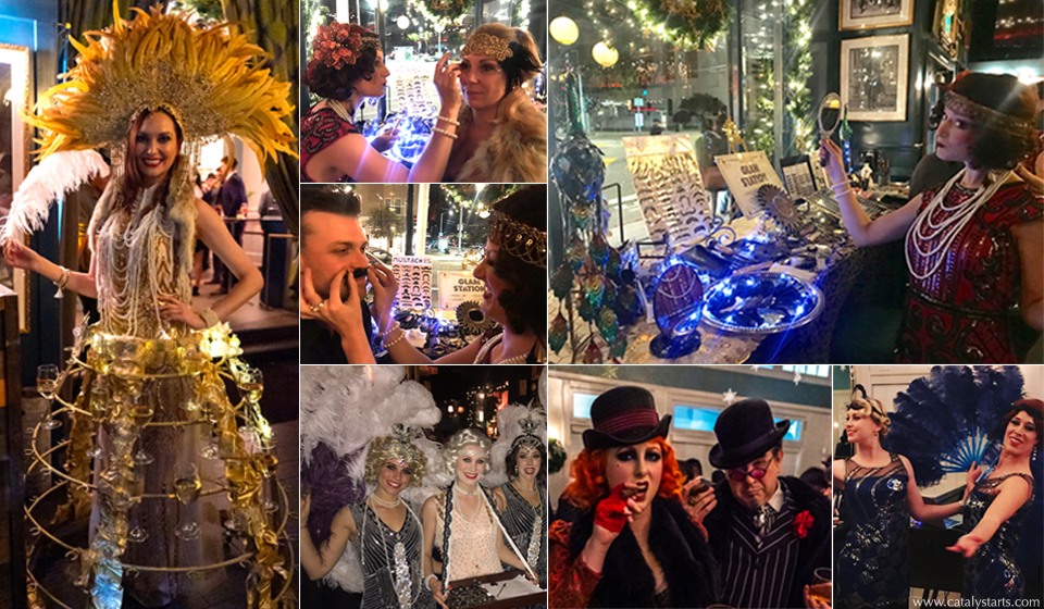 Gatsby Gold Package- entertainment by Catalyst Arts SF