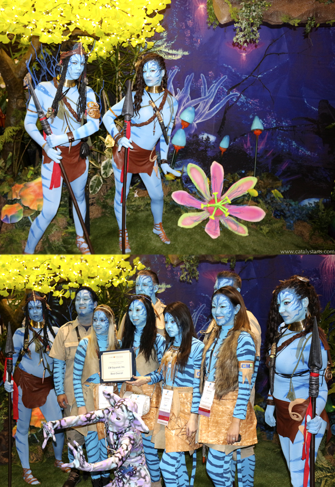 Avatar themed Entertainers at CM2 Booth - by Catalyst Arts Entertainment