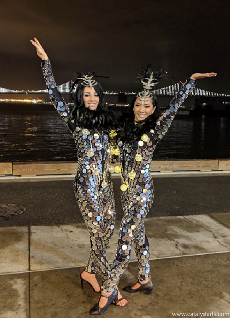 Mirror Suit Showgirls by Catalyst Arts in San Francisco California