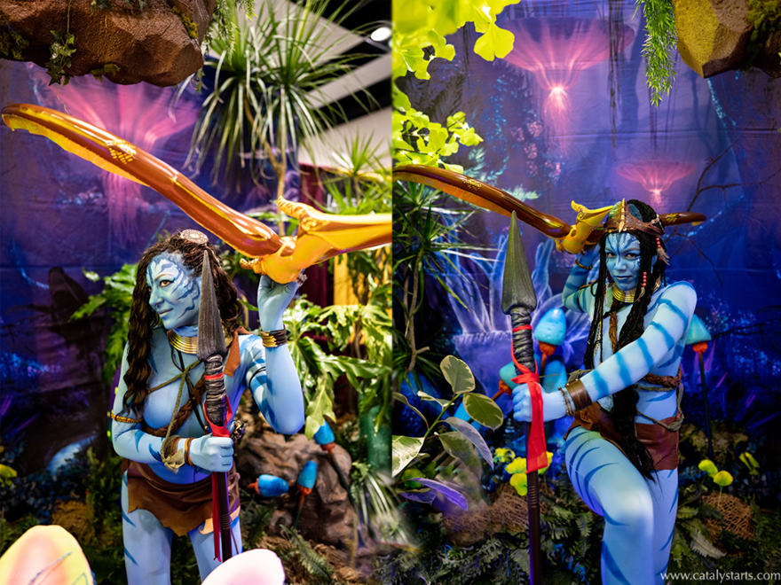 Avatar N'avi costumed characters for event- by Catalyst Arts Entertainment