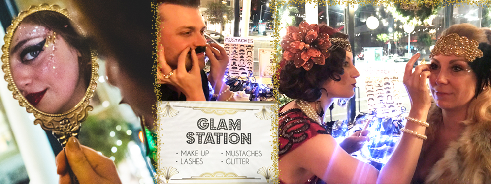 Gatsby Glam Beauty Bar- signature of Catalyst Arts Entertainment