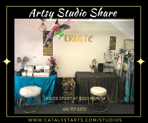artsy studio share in berkeley ca