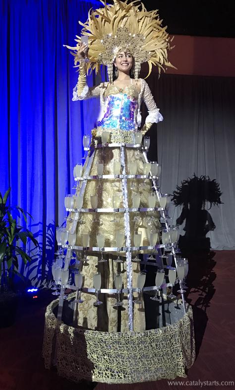 Deluxe Stilt Champagne Skirt by Catalyst Arts