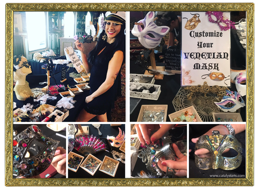 Venetian Mask making Station- Art Experience by Catalyst Arts SF