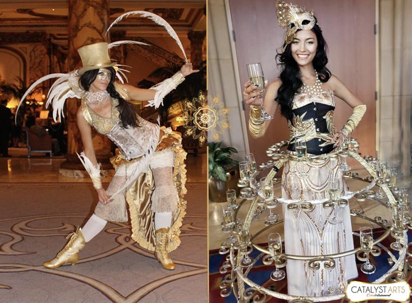 Golden Masquerade Champagne Skirt