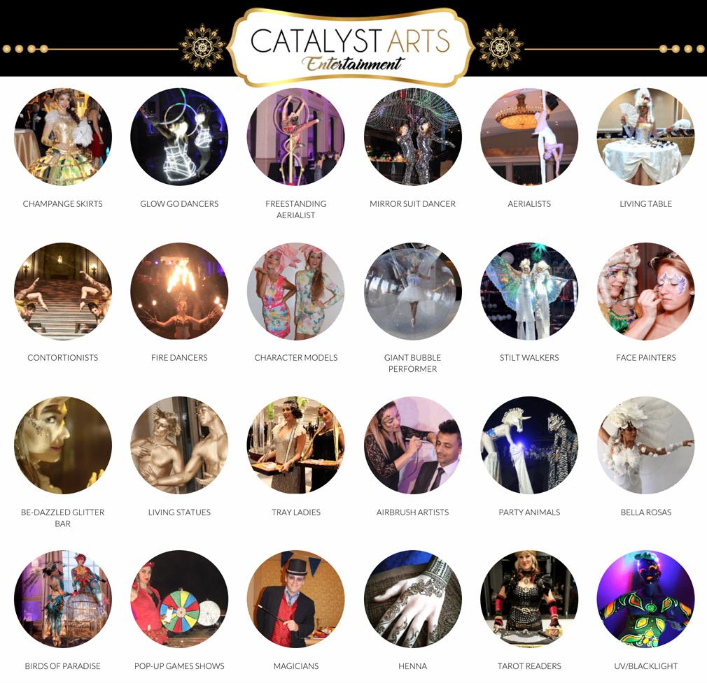 Catalyst Arts Entertainment Master Talent Menu