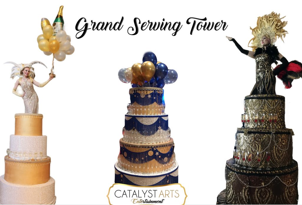 Champagne Tower- Giant Cake Serving Tower by Catalyst Arts
